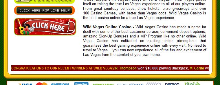 Wild Vegas Casino - US Players Accepted! 3